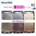AAA + Корпус для iPhone 6G 6S задняя крышка батареи задняя дверь Корпус средний Шасси Черный Запасные Запчасти для ремонта