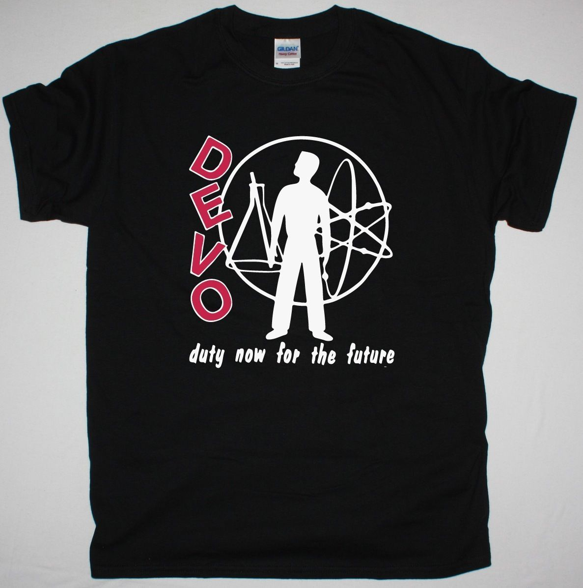 DEVO DUTY NOW FOR THE FUTURE ART POP ELECTRONIC SYNTHPOP NEW BLACK T-SHIRT