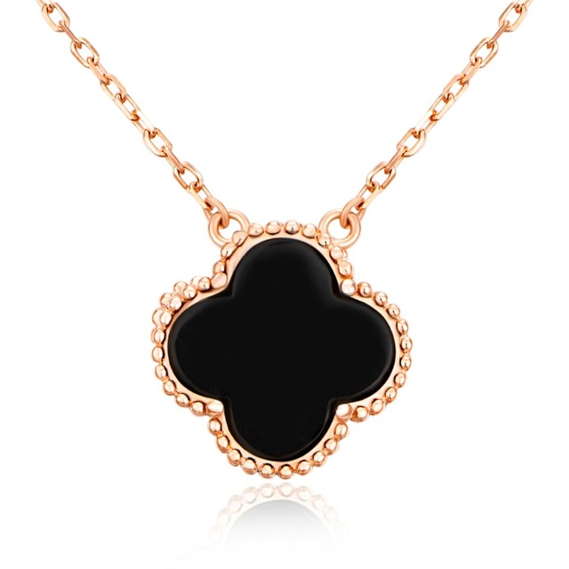 Hot fine jewelry 925 sterling silver jewelry classic colorful clover hot fine jewelry 925 sterling silver jewelry classic colorful clover pendant necklace women rose golden color aloadofball Image collections