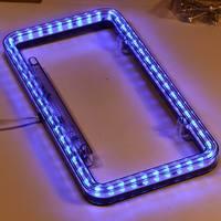 54 LEDs Auto Auto Nummerplaat Frame 12 V Blauw LED Licht Universal (0266)