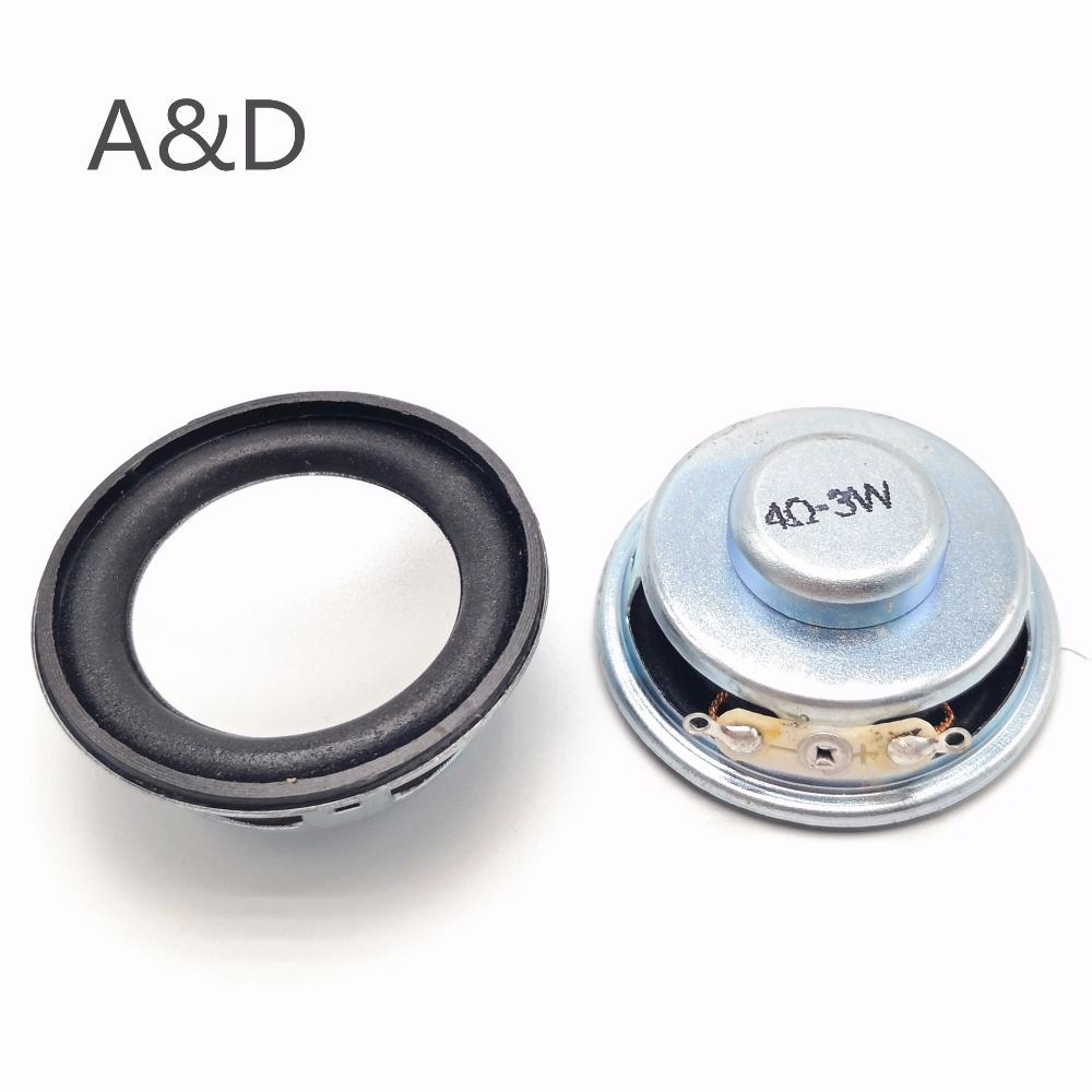 2Pcs Speaker Horn 3W 4R Diameter 4CM Mini Amplifier Rubber Gasket Loudspeaker Trumpet