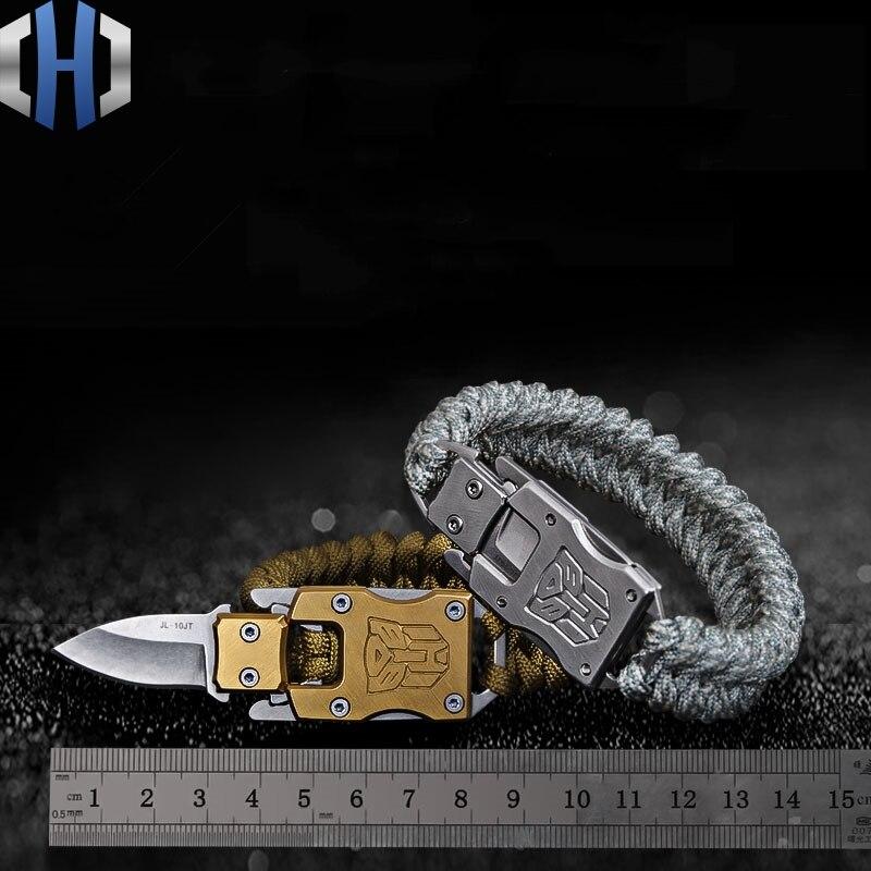 Drop Shipping EDC Outdoor Survival Paracord Bracelet Knife Hand Rope Multi Function Lifesaving Self-defense Bracelet Customized