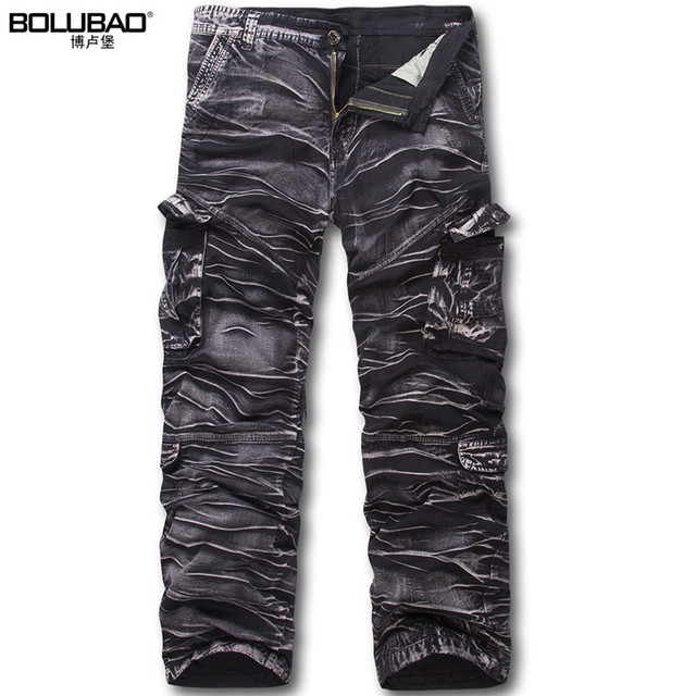 2017 Hot Sale Brand-Clothing Mens Cargo Pants Fashion Camouflage Military Men Pants Quality Cotton Casual Pants Men Plus Size