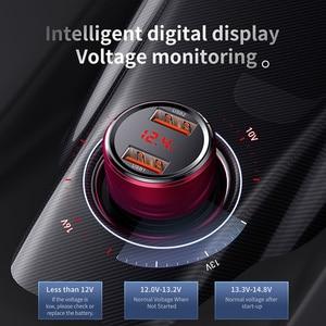 Image 2 - Baseus 45W Auto Ladegerät Dual USB Typ C Handy Ladegerät Metall Auto Lade QC 3,0 4,0 Schnell Ladung für iPhone Samsung Huawei