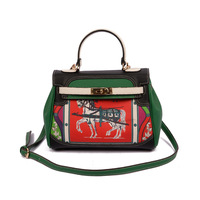 Europe Brand Fashion Woman Crossbody Bag Promotional Ladies Totes Luxury PU Leather Handbag Shoulder Bag Cartoon