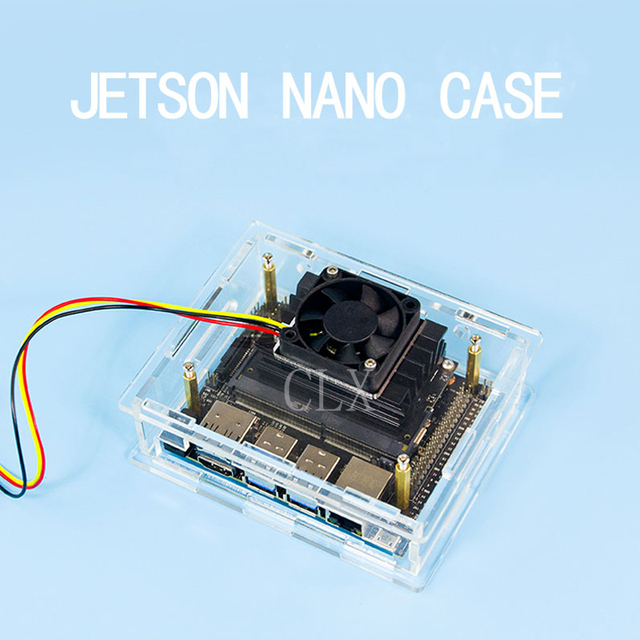 US $7 99 10% OFF|Aliexpress com : Buy NVIDIA Jetson Nano Developer kit  Acrylic Case Box Transparent Shell Enclosure with Cooling Fan from Reliable