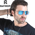 BAVIRON Aluminum Fishing Sunglasses Man Filter Strong Light Polarized Glasses Rectangle High Quality UV400 Glasses Oculos 8632