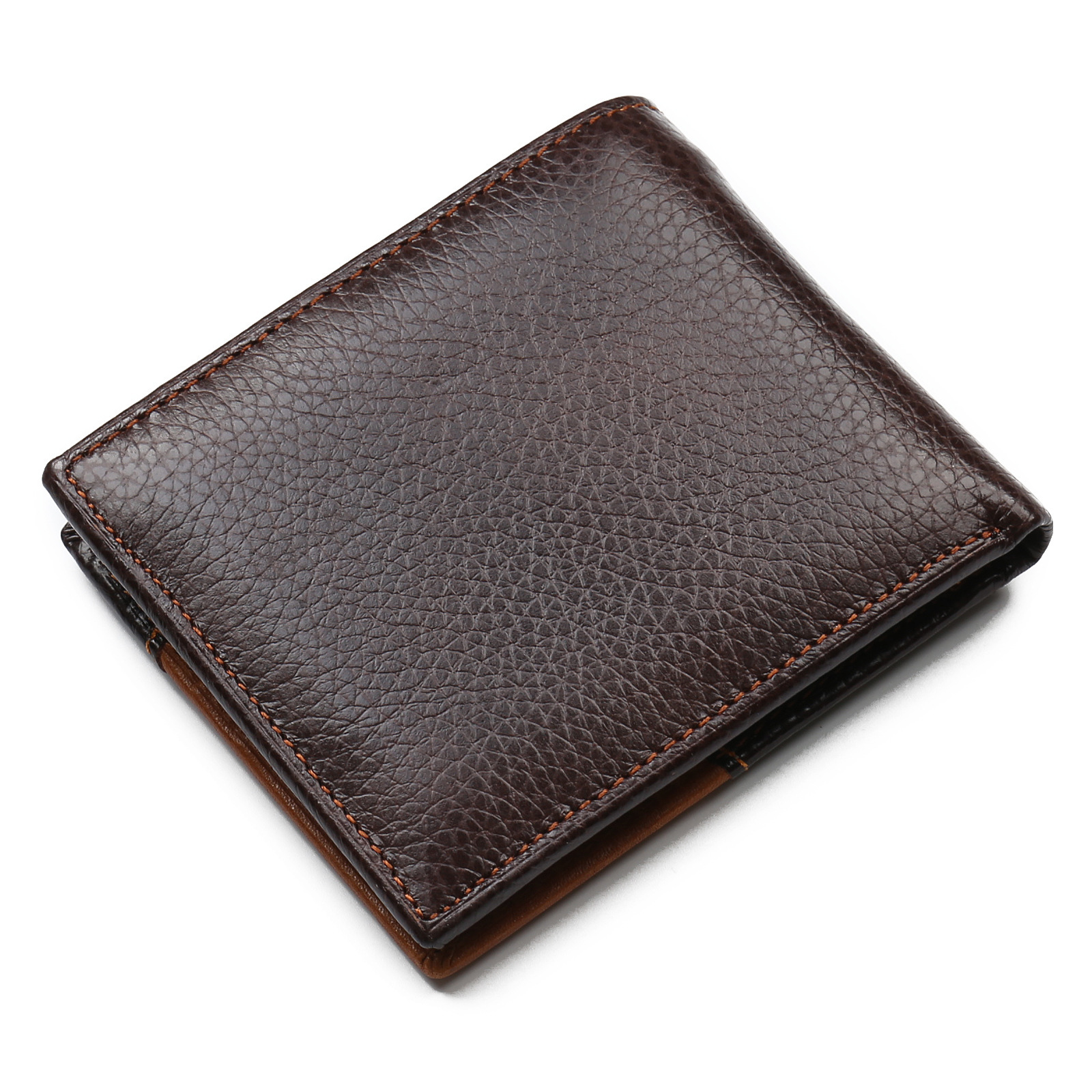 Famous Luxury Brand Genuine Leather Men Wallets Coin Pocket Zipper Men's Leather Wallet with Coin Purse portfolio cartera 3