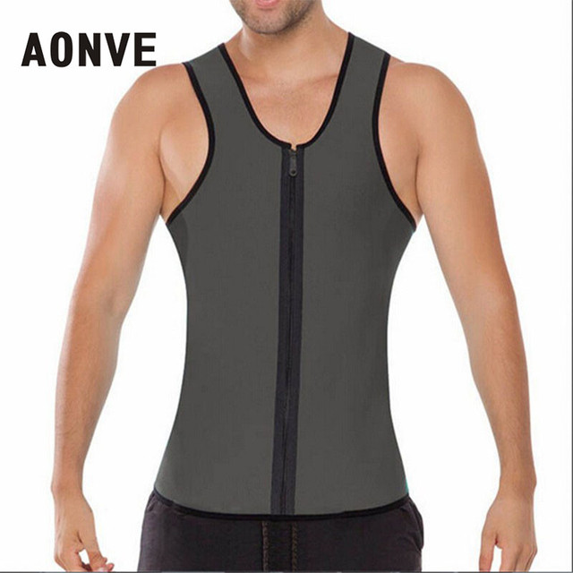ab451e6c1efce AONVE Slimming Belt Belly Men Body Shaper Man Waist Trainer Slimming Vest  Shirt Ultra Sweat Neoprene