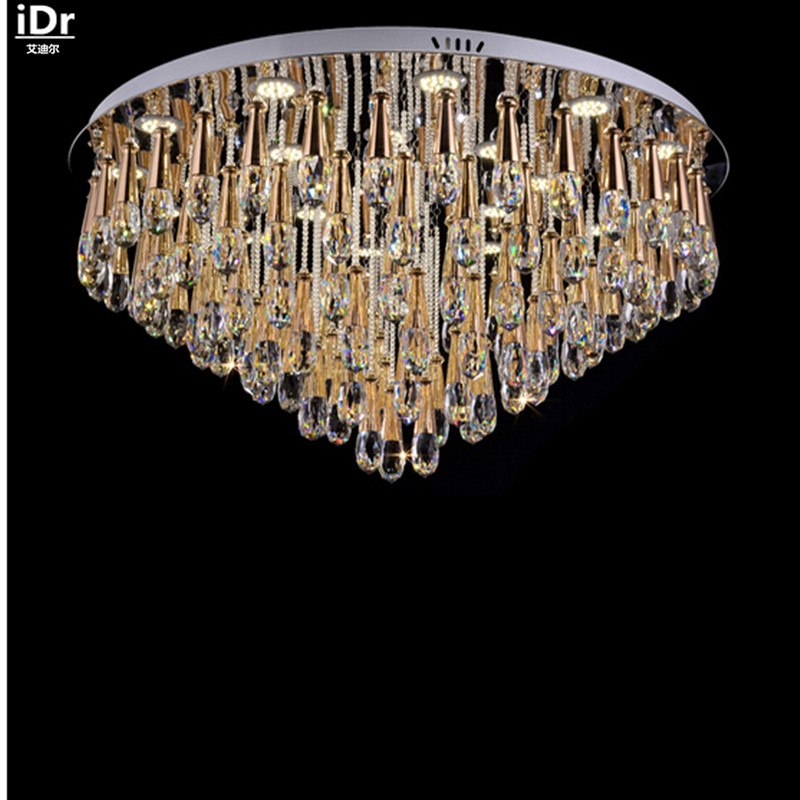Contemporary bedroom living room lights LED crystal lamp crystal lamp modern minimalist circular Ceiling Lights Dia1000mm traditional crystal lamp golden circular living room lamp lighting luxury bedroom lamp led patch ceiling lights lmy 080