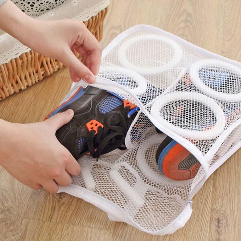 2019 New Arrival Fashion Storage Organizer Bags Mesh Laundry Shoes Bags Dry Shoe Organizer Portable Washing Bags Organizer
