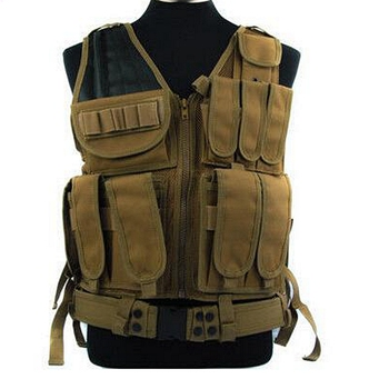 Assault Tactical Combat Vest Pistol Mag Pouch Military Mesh Designed with Holster Pouch Vest Airsoft Molle