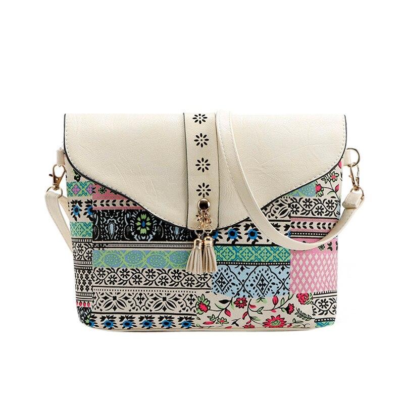 2017 Female Vintage Fashion Women Flower Print Handbags Bag Sweet Pattern Shoulder Messenger Bag High Quality A7 поло print bar flower pattern