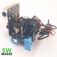 SWMAKR Reprap Prusa i3 Anet A8 3D drucker auto leveling extruder bausatz mit silikon socke alle metall extruder wagen