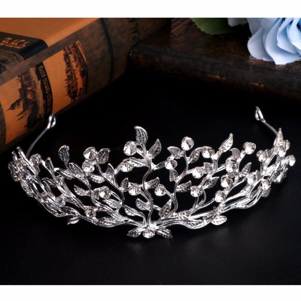 Vereinigt Javrick 1 StÜck Neue Blatt Zweig Strass Schmuck Braut Haarband Krone Tiara Für Frauen Mädchen Hochzeit #2s40878 # Hochzeits- & Verlobungs-schmuck