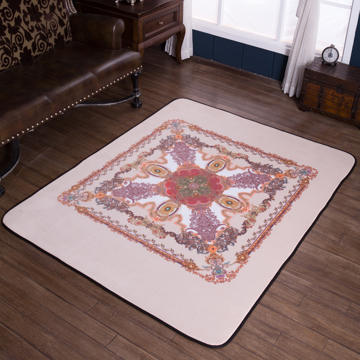Style nordique série rose tapis de haute qualité imprimé tapis anti-dérapant pour salon/salle à manger chambre thé table tapis de sol # sw