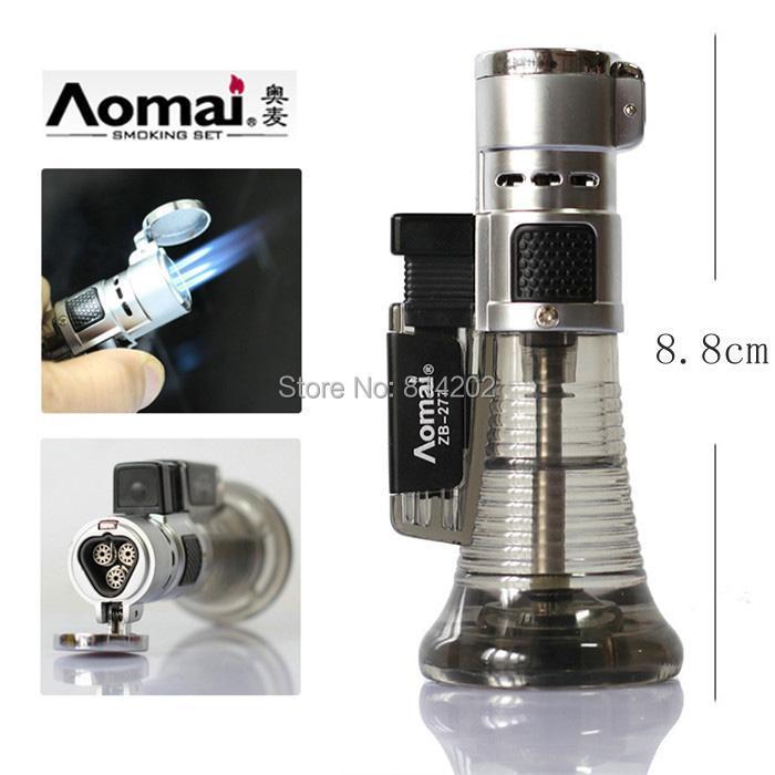 Triple Nozzles Torch Flame Cigar Lighter Butane Gas