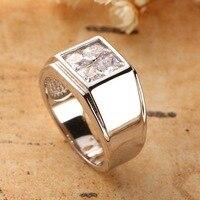 Качественные товары S925 чистого серебра мужское кольцо классический набор импортных циркония бурения новый шаблон быть помолвлен мужской к