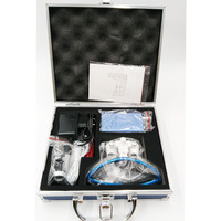 Free Shipping 2016 2.5X 3.5X magnifying glasses dental and surgical loupes with head light packed in aluminium box