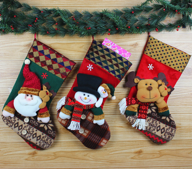Aliexpress.com : Buy Christmas socks pendant Hang Christmas gift bag ...