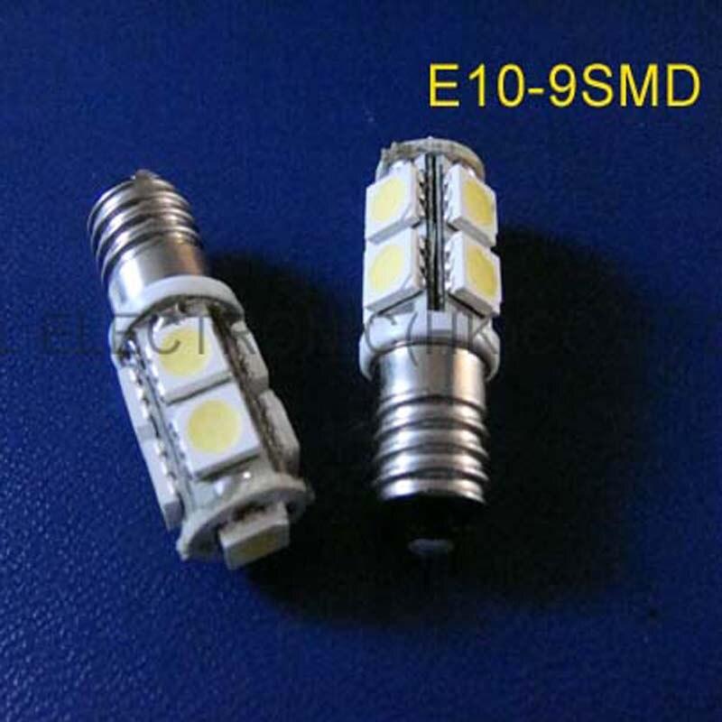 High quality E10 12v LED Car Signal Light,E10 Indicator Light,E10 LED Pilot Lamp E10 led car lamps 12v free shipping 2pcs/lot