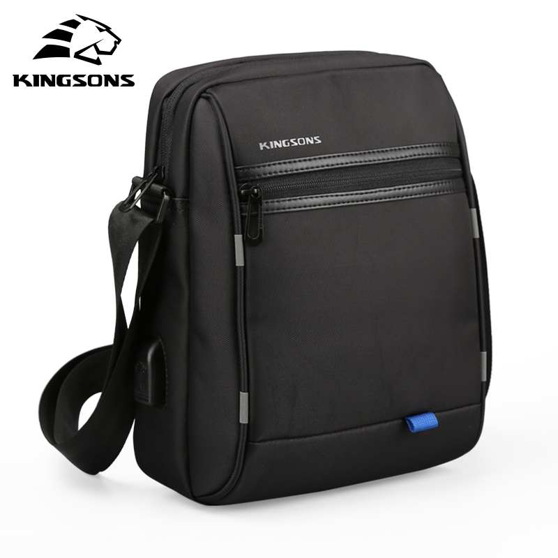 Kingsons Famous Brand Men Bag Casual Business Mens Messenger Bags Vintage Men's Crossbody Bag Bolsas Male Shoulder Bags new casual business leather mens messenger bag hot sell famous brand design leather men bag vintage fashion mens cross body bag