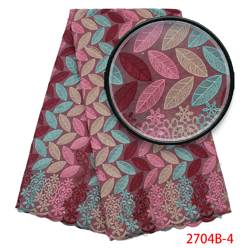 African Swiss Voile Lace Fabrics 2019 Nigerian Lace Fabrics French Voile Lace In Switzerland High Quality For Dresses KS2704B-4