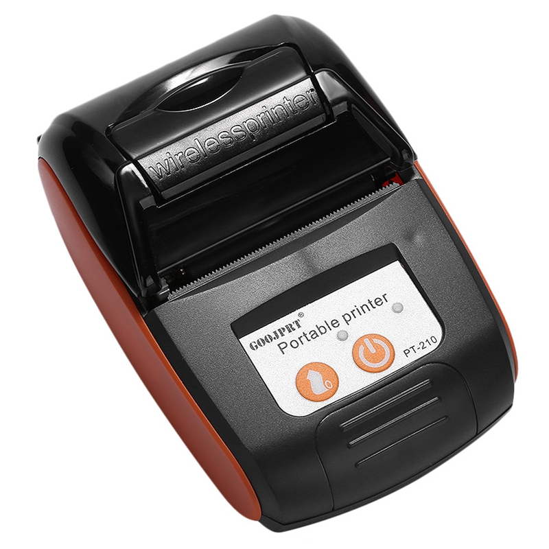 Goojprt Pt210 58Mm Bluetooth Thermal Printer Portable Wireless Receipt Machine For Windows Android Ios Us Plug(China)