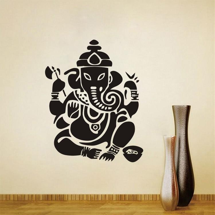 JJRUI Buddhisme India Ganesha Lord Veggklistremerker Yoga Buddha - Hjemmedekorasjon - Bilde 4