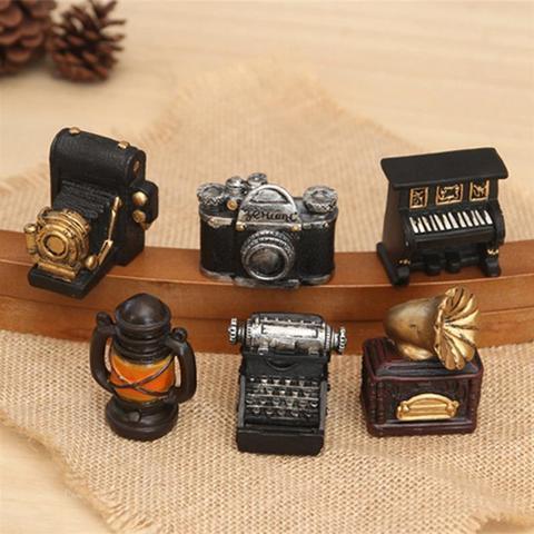 Retro Radio Pianos Cameras Lamp Model Antique Imitation Nostalgia Wireless Ornaments Craft Bar Home Decor Pakistan