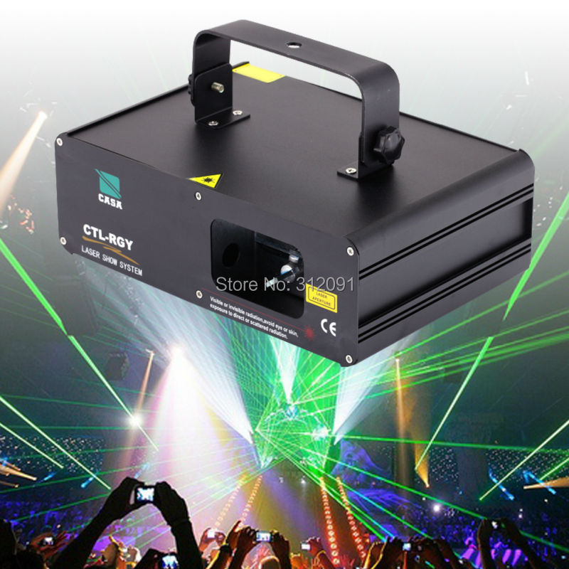 (Ship from DE) 310mW RGY DMX Laser light 9CH Party Bar Pub Club DJ Dance Auto Gobo DMX Luz Laser DMX Luce Laser kam xy laser rgy