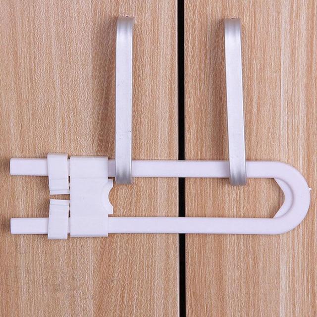 Baby Safety Lock U Shape Security For Cabinet Children Cupboard Door Drawer Yh 17