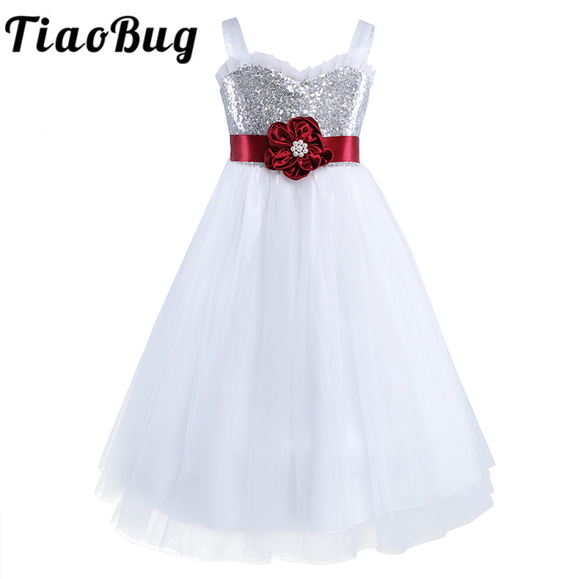 Wedding Party Dress Weddings & Events Tiaobug Girls Flower Girl Dress Princess Wedding Party Dresses Pageant Holiday Crossed Back Lace Formal Tulle Flower Girl Dress Moderate Price