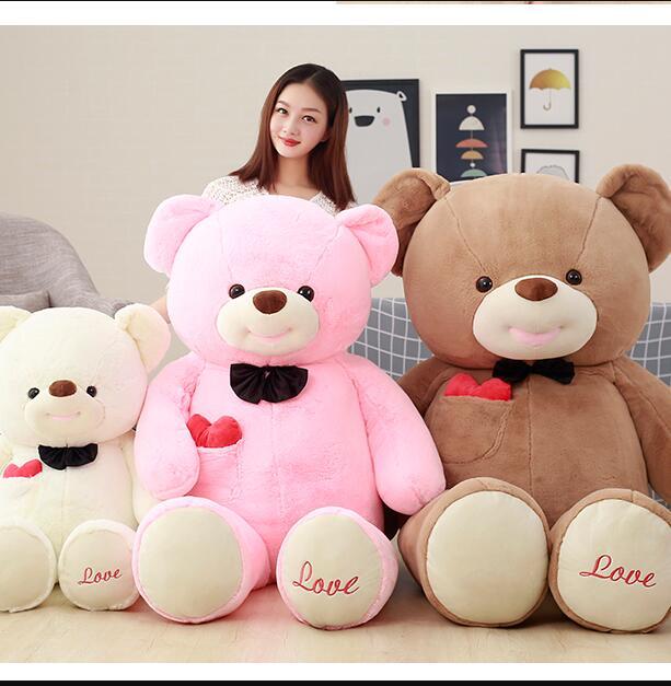 Raksasa 100 Cm Lucu Ukuran Besar Teddy Bear Boneka Mewah Mainan Boneka Beruang Boneka Dengan Cinta Mainan Untuk Gadis Hadiah Ulang Tahun Bear Doll Teddy Bear Dollbig Size Teddy Bear Aliexpress