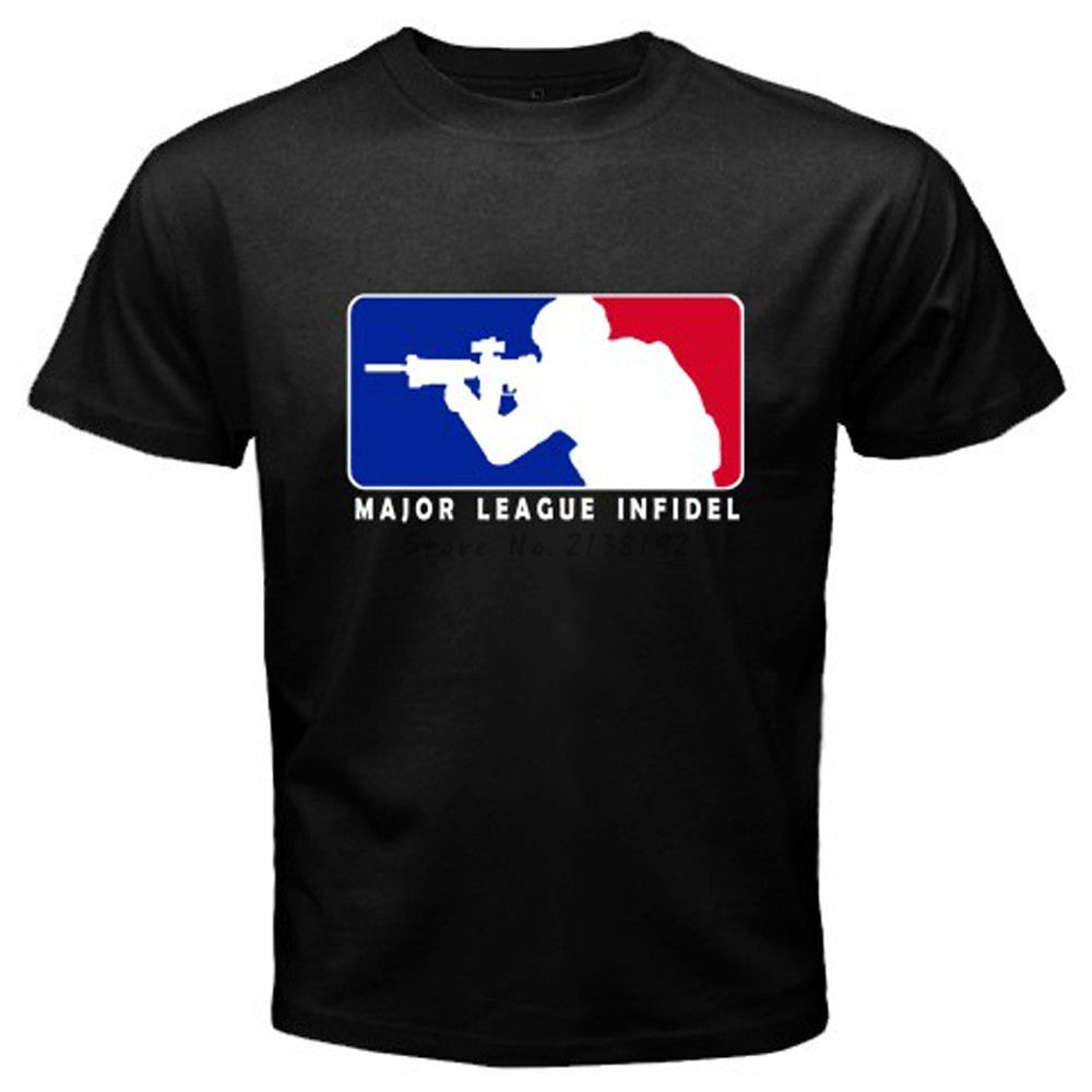 Major league infidel military usmc marines special ops for Black t shirt mens fashion