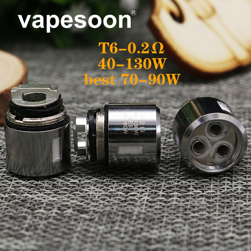 5pcs V8 Baby Q2/X4/T6/T8 0.15ohm/0.2ohm/0.4ohm Replacement Coil Atomizer Core for SMOK TFV8 Big Baby Tank for Stick V8 Kit