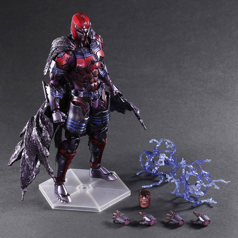 Play Arts PA Marvel Magneto Action Figure Toy Doll Collection 10 26cm elsadou 26cm play arts pa justice league the flash action figure toy doll collection