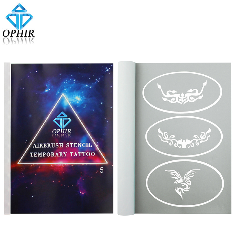 OPHIR 30 Patterns Reusable Booklet Airbrush Stencils Art 30 Designs Temporary Tattoo Template Sheets_STE5