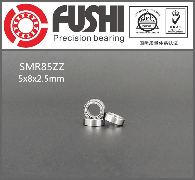 SMR85ZZ ABEC-1 (10PCS) 5X8X2.5 mm Stainless Steel Miniature SMR85 ZZ Ball Bearings SMR85-ZZ gcr15 6326 zz or 6326 2rs 130x280x58mm high precision deep groove ball bearings abec 1 p0