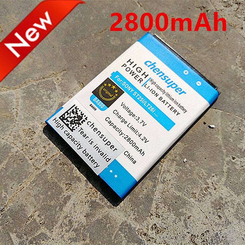 chensuper NEW 2800mAh BA600 Battery Use for Sony Ericsson Xperia U ST25i  ST25C Kumquat