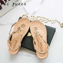 kai yunon Summer Bohemia Sweet Beaded Sandals Clip Toe Sandals Beach Shoes Sep 15