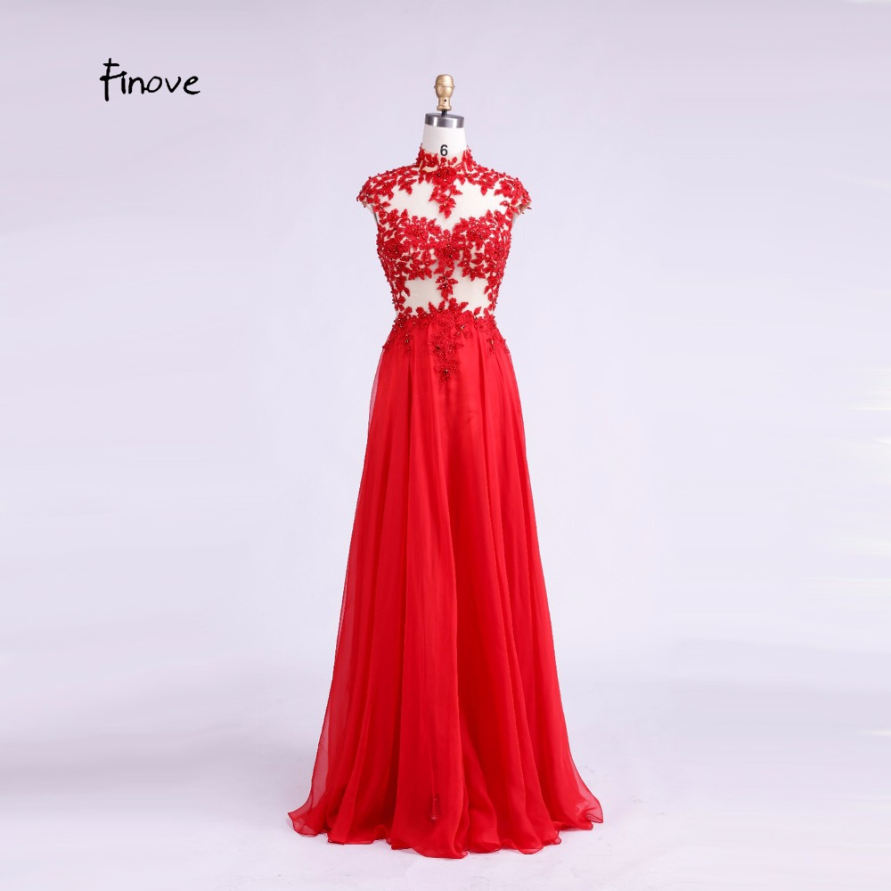 Detail Feedback Questions about 2018 Red Evening Dress Cap Sleeve High Neck  Mother Of The Bride Dress Applique Chiffon A Line Long Evening Gown on ... 3099bd34e65b