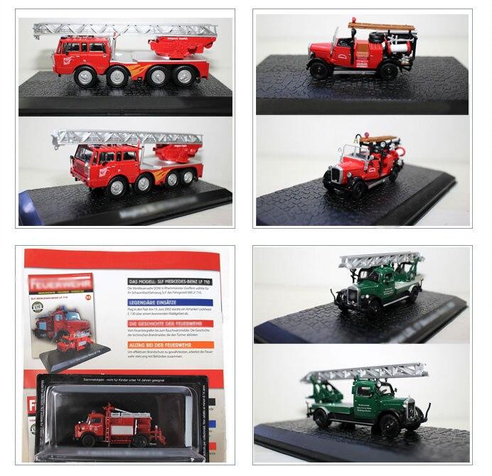 Une variété De modèle De camion De pompier en alliage 1/72 modèle De Collection exquis