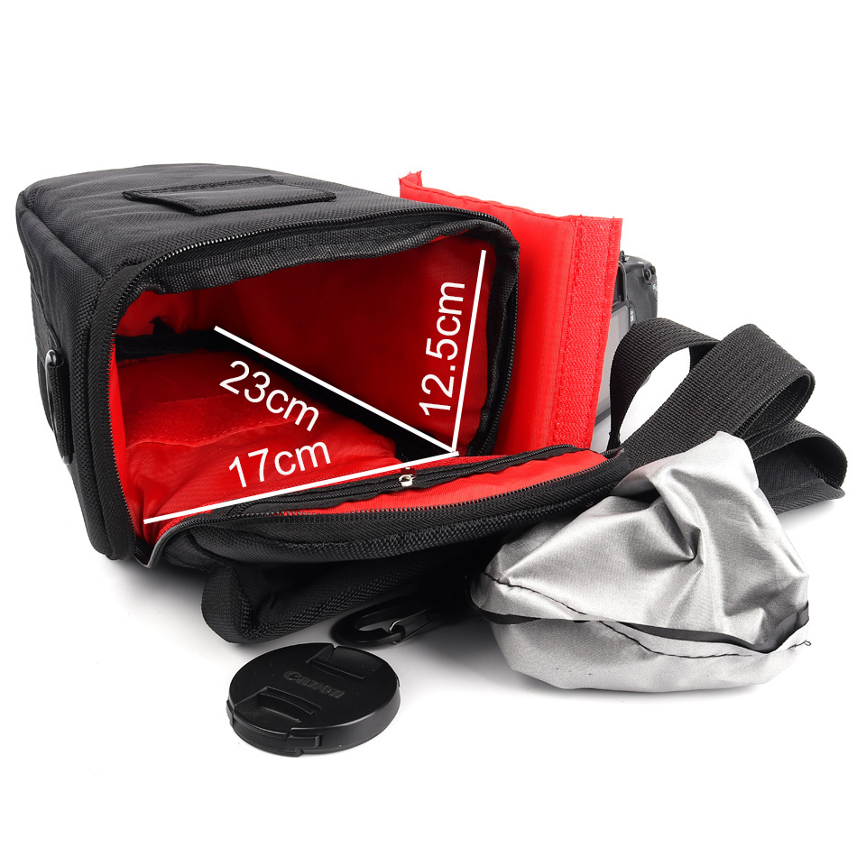 lowest price Waterproof Camera Case Bag For Canon 1300D 1100D 1200D 100D 200D DSLR EOS Rebel T3i T4i T5 T5i T3 600D 700D 760D 750D 550D 500D