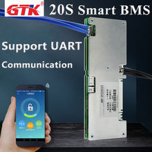 20S 72V 30A 40A 50A 60A smart BMS with bluetooth APP communication function for 72V 35Ah 40Ah electric bike Li-ion Battery Pack(China)