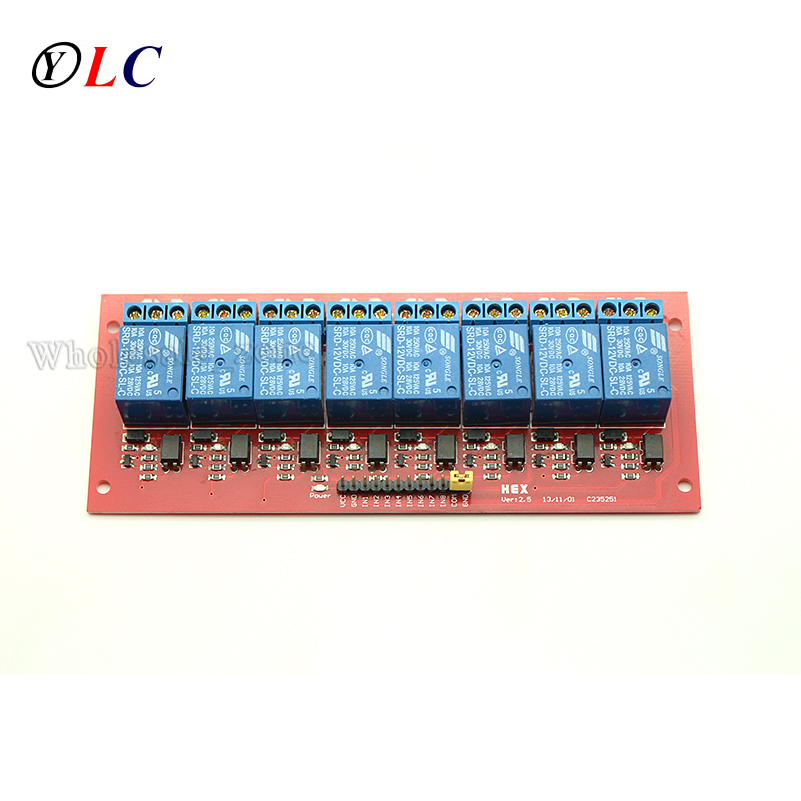With Optocoupler 12V 8 Channel Relay Control Panel PLC Relay Module Board for arduino NEW 8 channels plc extender board io protective optocoupler relay module board