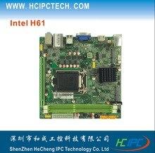 HCIPC 2043-3 ITX-HCM61X11F,LGA1155 H61 Mini ITX Motherboard,2MPCIE,PCIE 16X,2SATA,1COM,SPDIF,GPIO,1LAN,2DDR3,8USB,VGA+HDMI,ATX
