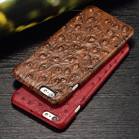 LANGSIDI Brand Phone Case New Ostrich Grain Back Cover Phone Case For Iphone Cell Phone X