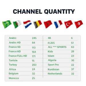 Image 2 - HK1 ماكس الفرنسية العربية علبة تلفزيون بروتوكول الإنترنت الروبوت 9.0 التلفزيون مربع IPTV فرنسا/تركيا/بلجيكا/المغرب/الجزائر/ هولندا IP TV 4 K مشغل الوسائط