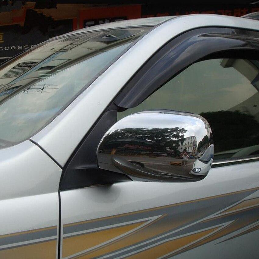 YAQUICKA pour Toyota Land Cruiser Prado FJ120 2003-2009 couverture de rétroviseur de voiture garniture de voiture style Chrome ABS